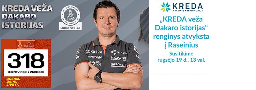 Lenktynininkas Antanas Juknevičius Raseiniuose lauks visų Dakaro fanų